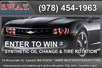 oil change discount Lowell, MA